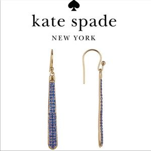 Kate Spade Shine On Pave' Linear Drop Earrings